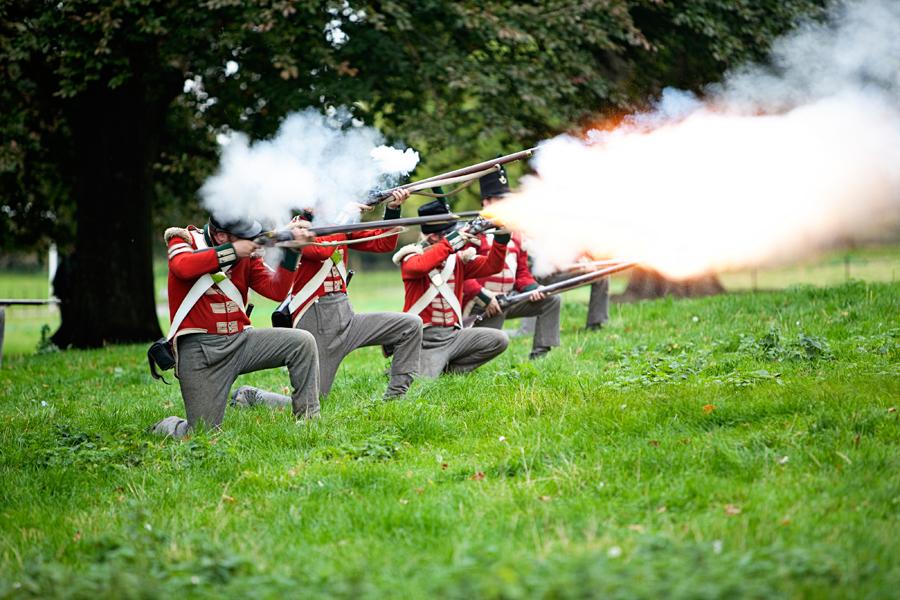 Napoleonic battle scene